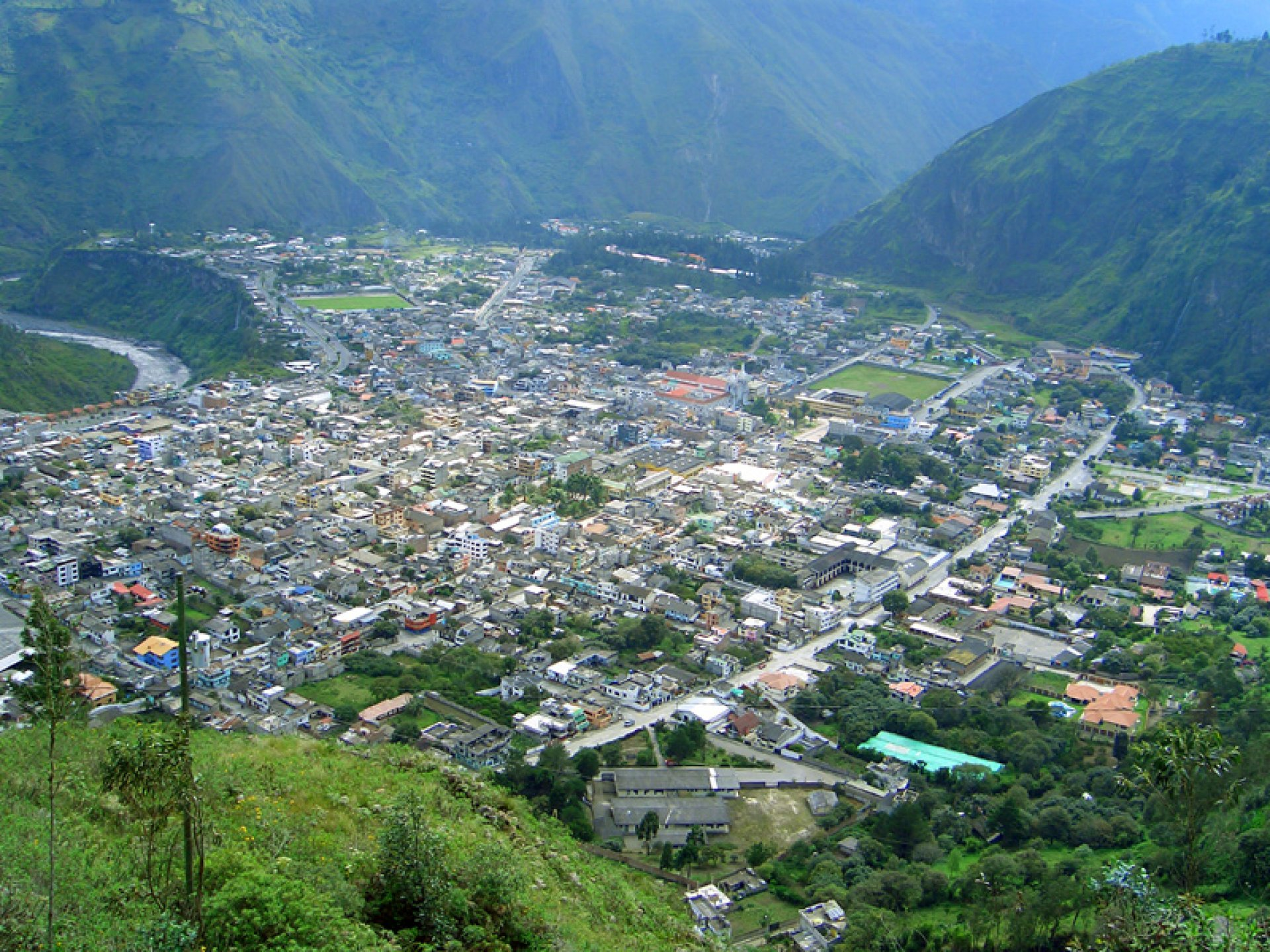 Tourist Viewpoints in Banos Ecuador